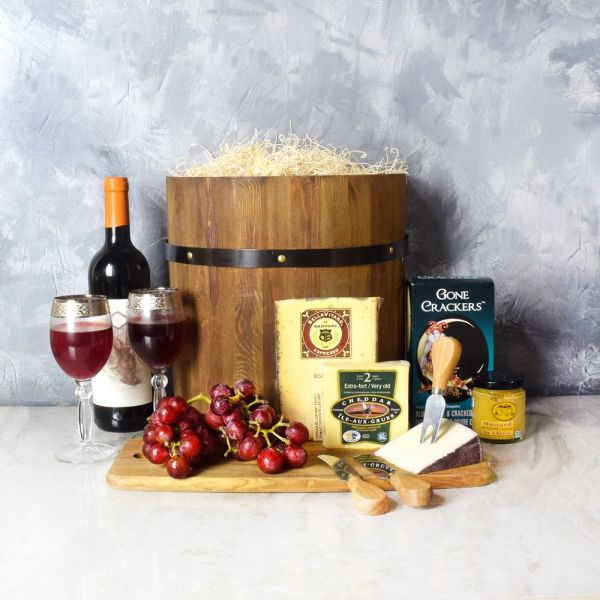 Wine & Cheese Barrel