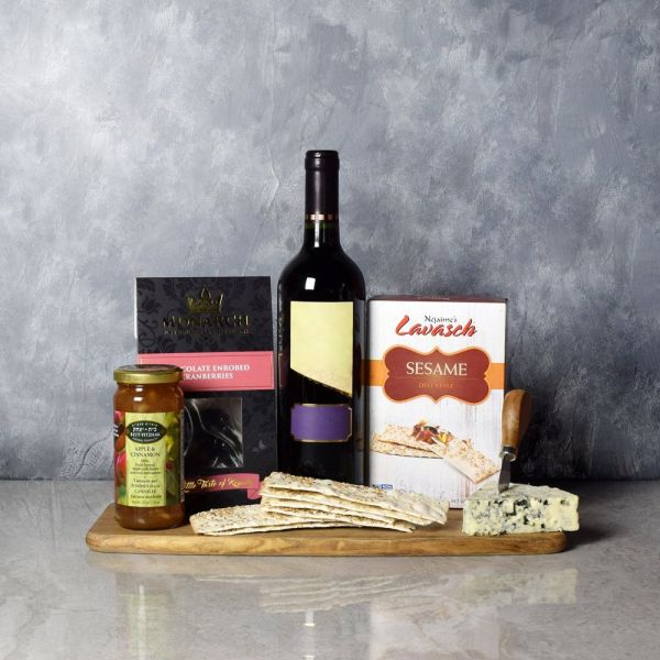 Autumn Red Cheese & Wine Basket