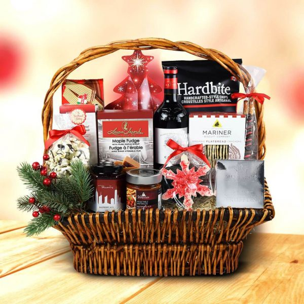 Under The Christmas Tree Wine Gift Basket
