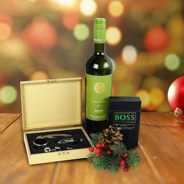 Wine & Dark Chocolate Gift Set