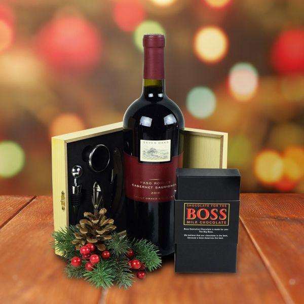 Wine & Milk Chocolate Gift Set