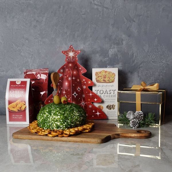 Christmas Cheese Ball Gift Basket
