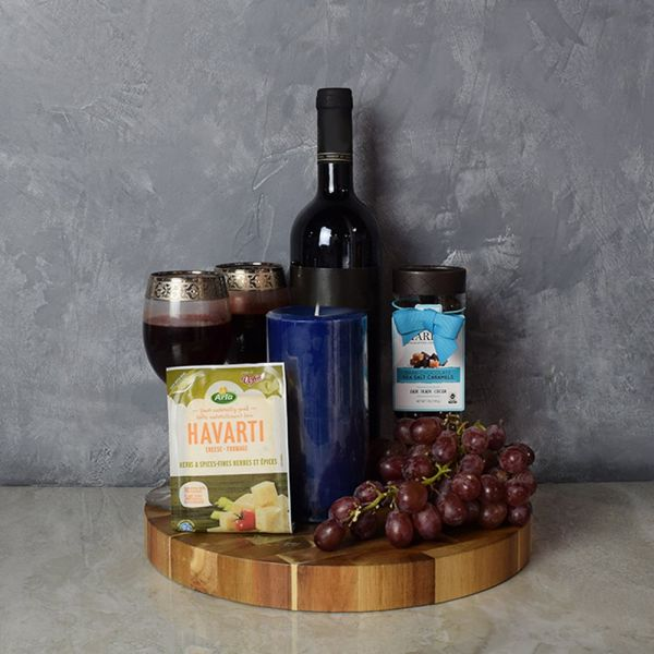 Kosher Wine & Cheese Gift Basket