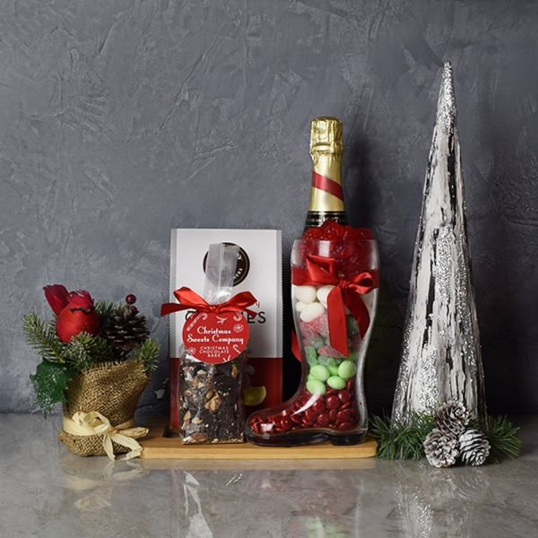 Santa's Sweet Champagne Celebration Basket