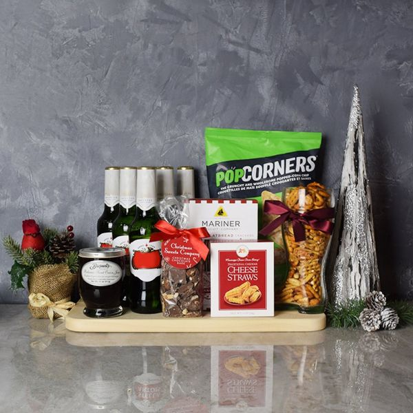 Holiday Beer & Snacks Gift Basket