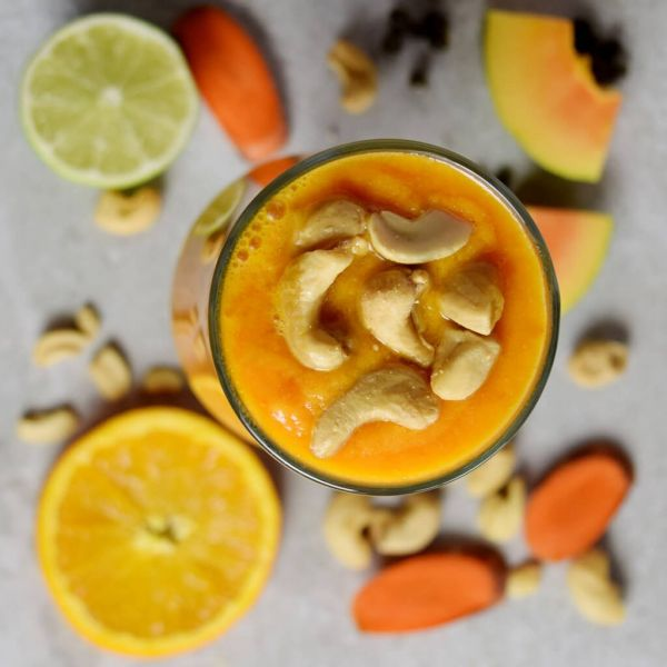 Papaya Carrot Lime Smoothie