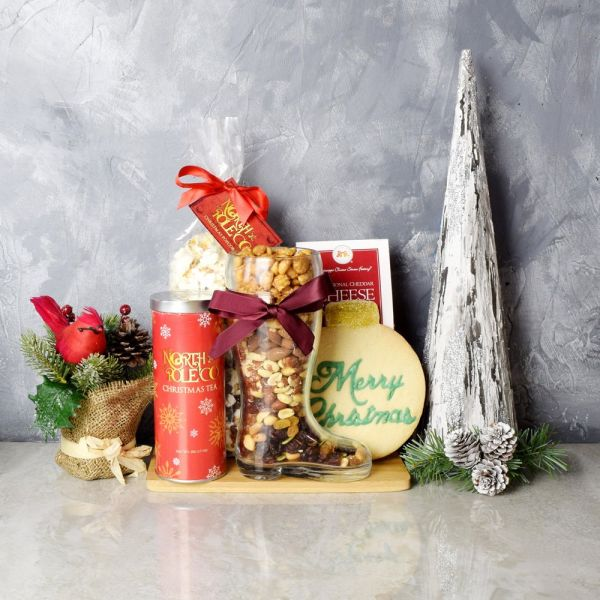 Merry Christmas Tea & Snacks Basket
