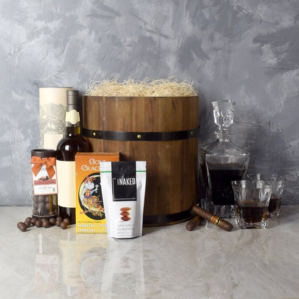 Deluxe Whiskey Barrel Gift Set