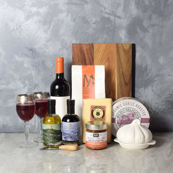 Pasta Lover's Wine Gift Basket