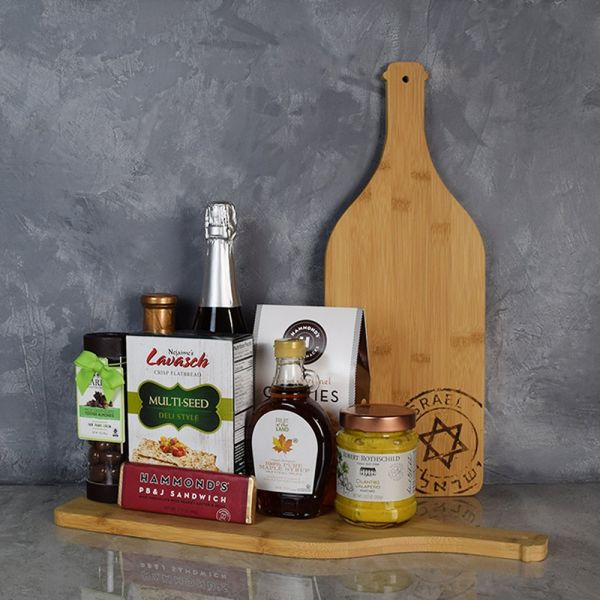 Kosher Champagne & Snacks Gift Basket
