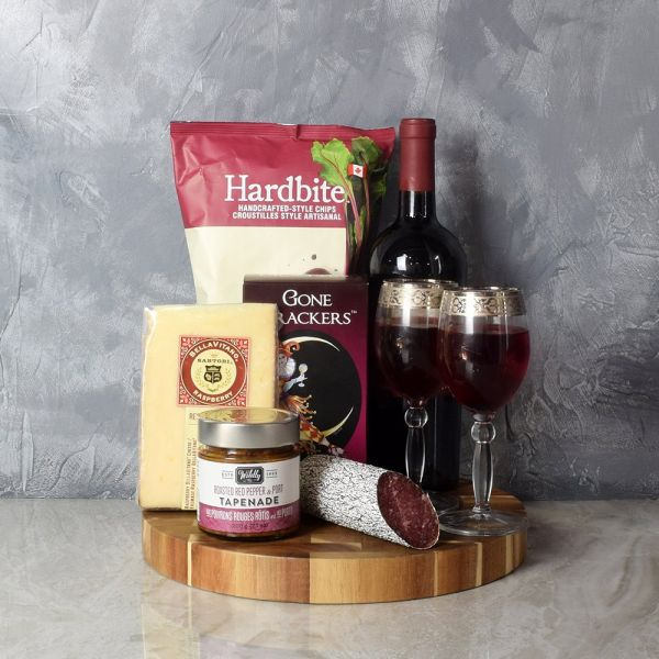Savoury Treats Wine Basket
