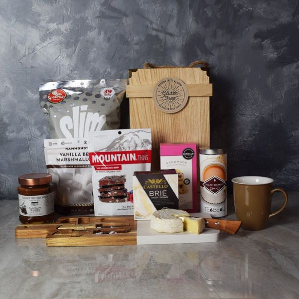 TEA AND SNACKS GOURMET GIFT BASKET
