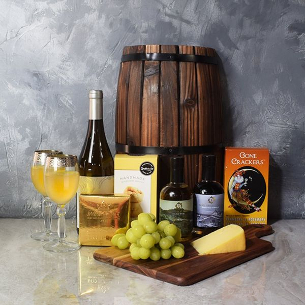 Decadent Wine & Cheese Basket