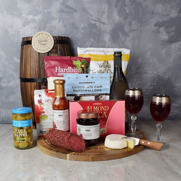 WISH YOU SUCCESS WINE & GOODIES GIFT BASKET