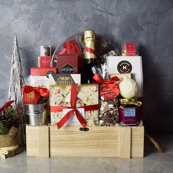 Holiday Champagne & Treats Basket  Toronto  Basket
