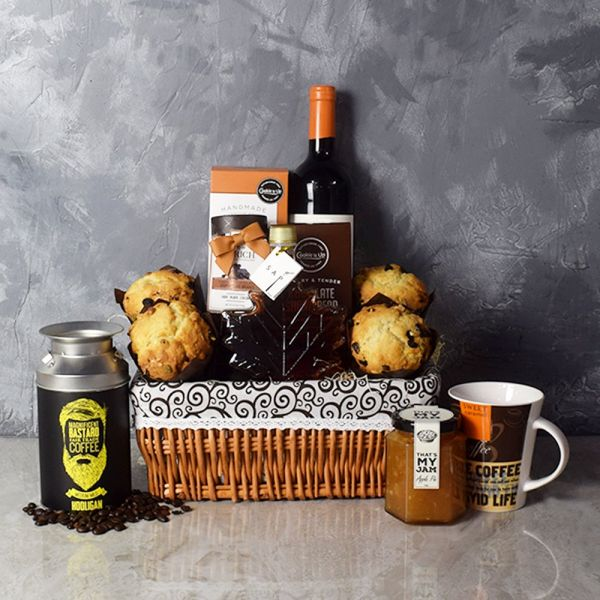 Snack Array & Wine Gift Basket