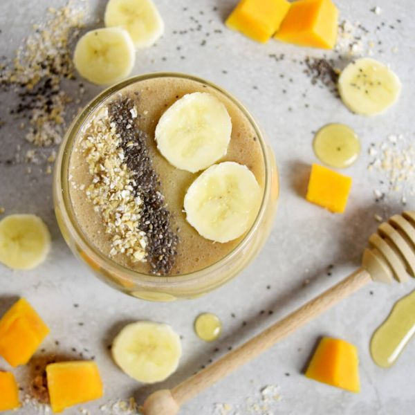 The Not-Too-Sweet Butternut Squash & Banana Smoothie