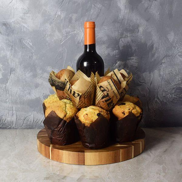 Wine & Muffins Gift Set