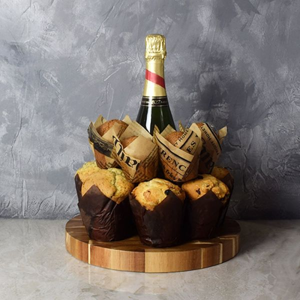 Champagne & Muffins Gift Set