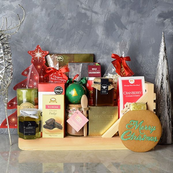 Sweet Holiday Sleigh Gift Basket