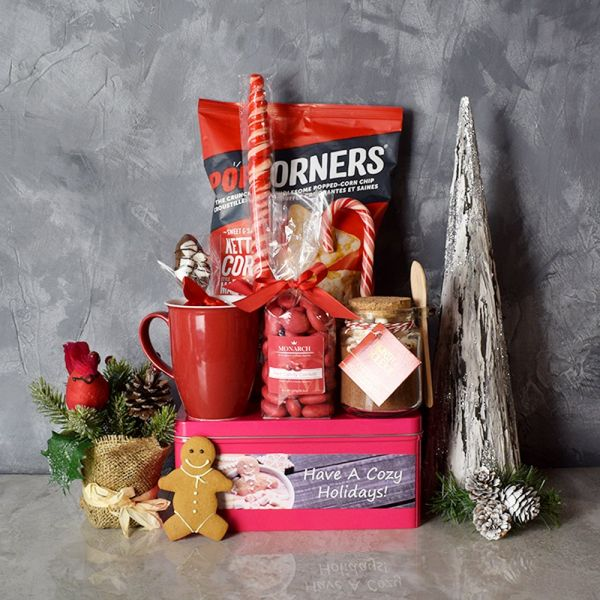 Cozy Christmas Sweets Basket