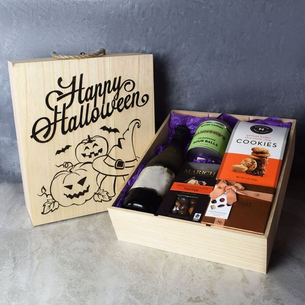 Halloween Wine & Treats Crate