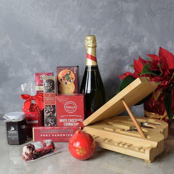 Yuletide Champagne & Snack Basket