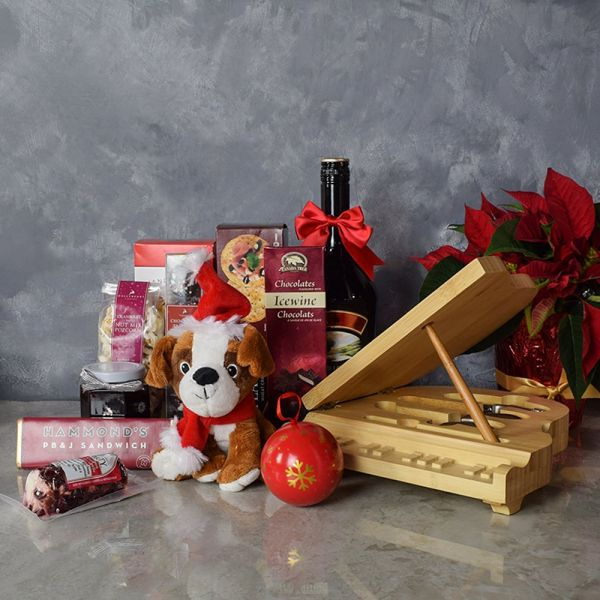 Yuletide Liquor & Snack Basket
