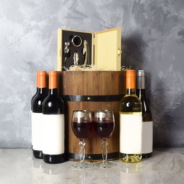 Wine Barrel Gift Set