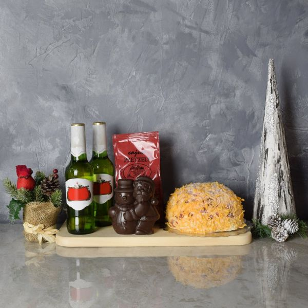 Holiday Beer & Cheese Ball Gift Basket