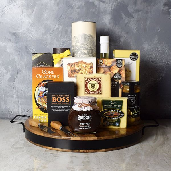 Liquor & Cheese Platter Gift Set