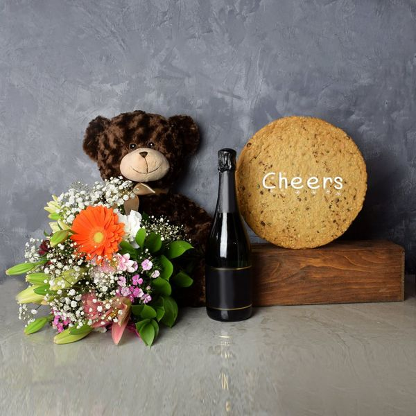 """Cheers"" Cookie & Champagne Gift Set"