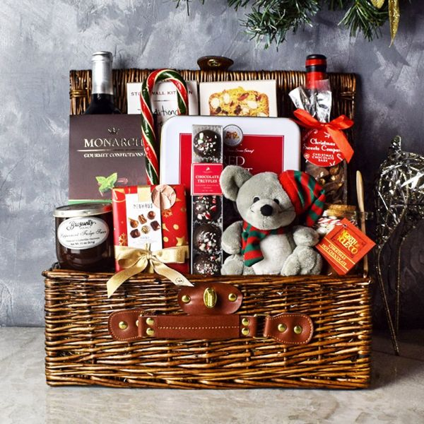 Bountiful Holiday Wine Basket