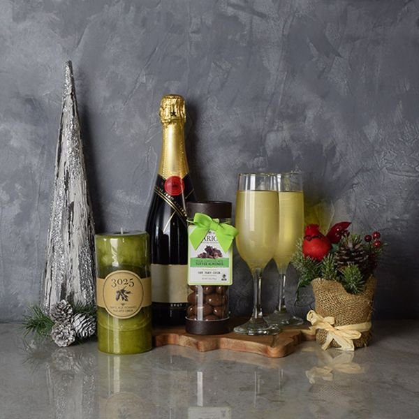 Bubbly Christmas Holiday Basket