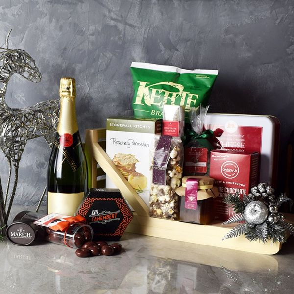 Holiday Champagne & Treats Basket