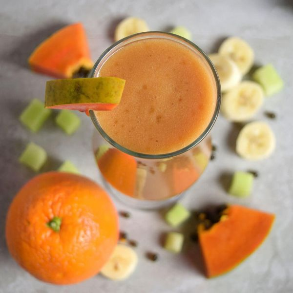 Banana Orange Papaya Smoothie