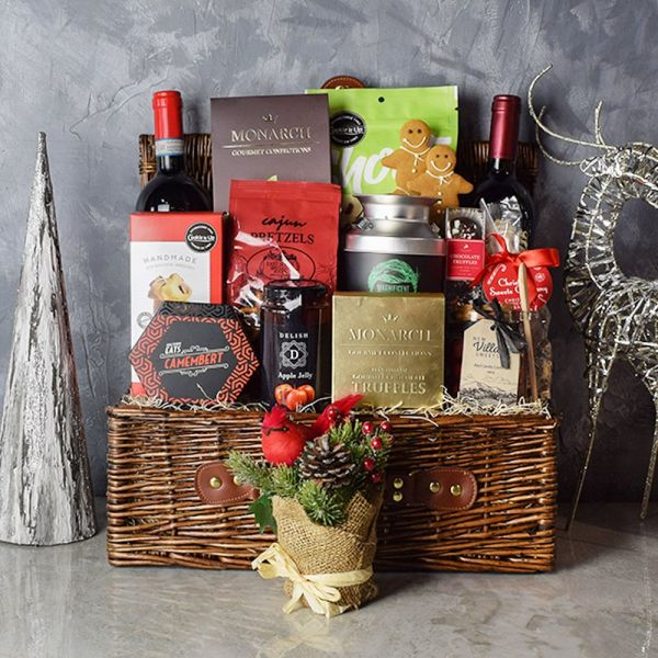 Christmas Wine Bounty Basket