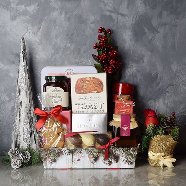 Wonderful Christmastime Gift Basket
