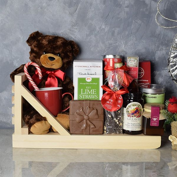 Holiday Tea & Cookies Gift Basket
