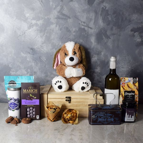 Wipe Away the Blues Wine Basket