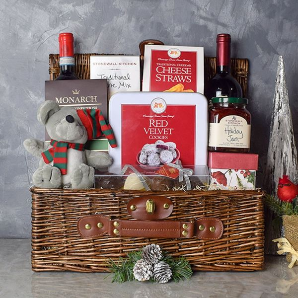 Ample Holiday Wine & Treats Basket