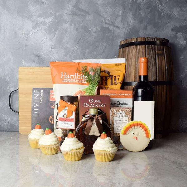 Thanksgiving Wine & Snacks Basket