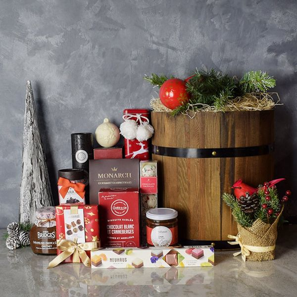 Rustic Holiday Barrel