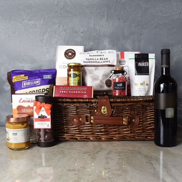 Kosher Wine & Treats Basket