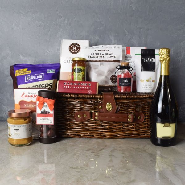 Kosher Champagne & Treats Basket