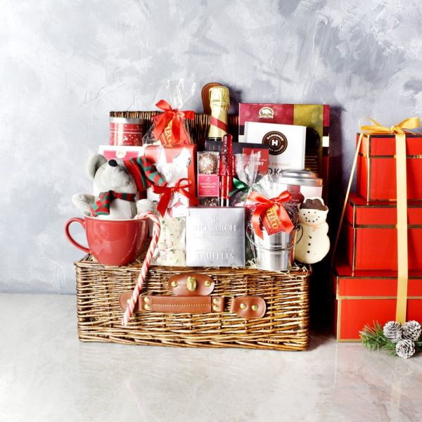 Chocolate and Champagne Holiday Celebration Basket