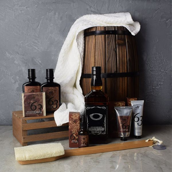Spa Retreat & Liquor Gift Set For Him