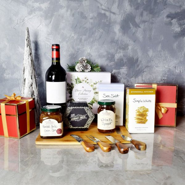 Holiday Wine & Cheese Pairing Gift Basket